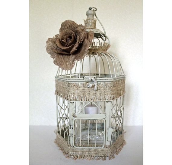 Wedding Birdcage Centerpiece Or Wishing Well Rustic Chic Etsy