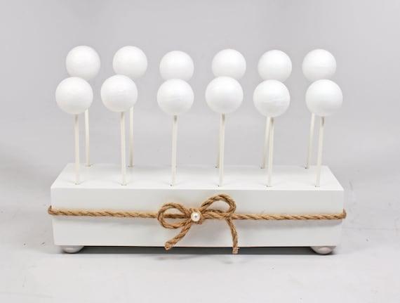 rustic cake pop stand white cake pop stand wedding cake pop etsy