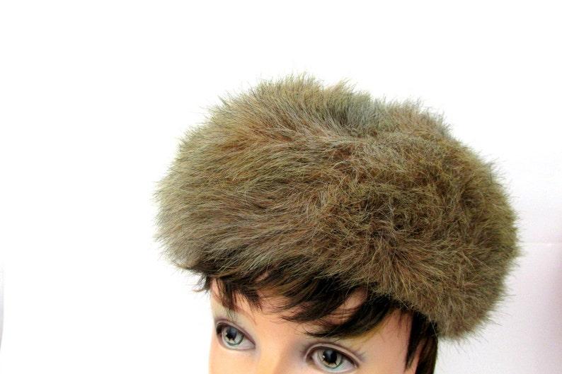 47e96cc4ec3a51 Faux Fur Cossack Hat for Women / Vintage Winter Hat | Etsy