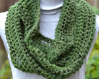 Hunter Green Textured Cowl Ready to Ship