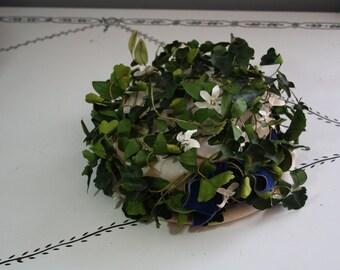 60's Hat // Ivy Foliage // Oleg Cassini Brand //