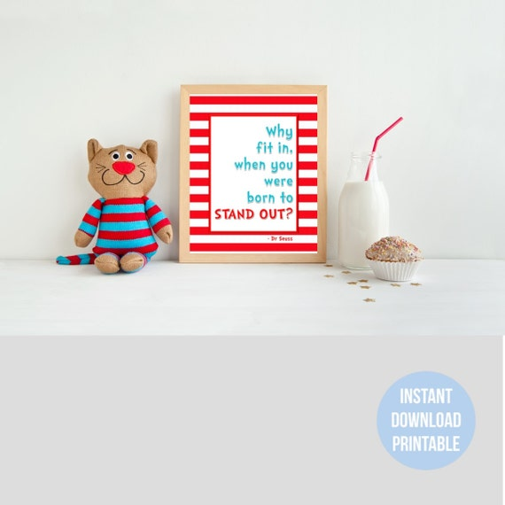 Dr Seuss Quotes Inspired Diy Printable Baby Nursery Childrens Etsy