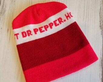 e26c16c98ec07 Vintage Hot Dr. Pepper Beanie Hat