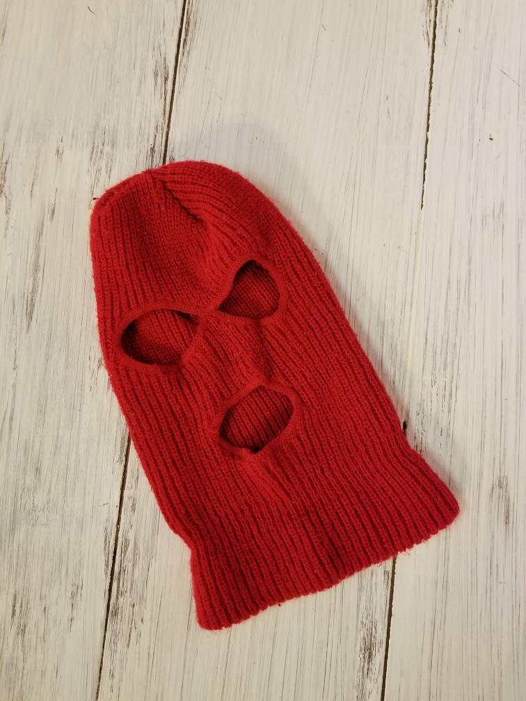 ae267baee57 Vintage Red Ski Mask Full Face
