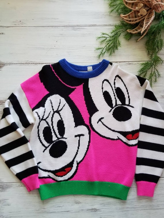 Vintage Mickey & Co. Mickey Mouse and Minnie Neon