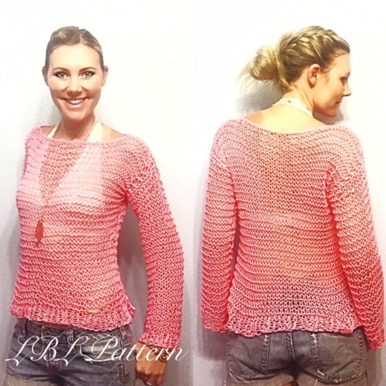 688c73c858f9c PATTERN: Dreamy Summer Sweater Knitting Pattern, Beginner Knitter Pattern,  Summer Sweater, Loose Knit Top, Light Weight, Easy Knitting