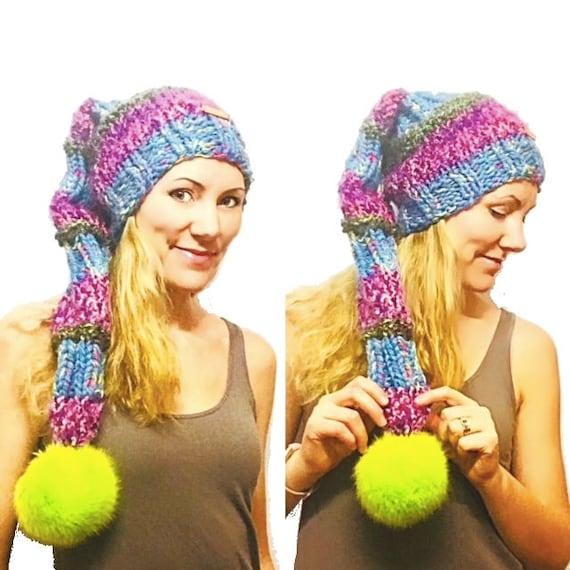 Pattern Megan Pixie Hat Knitting Pattern Super Long Fairy Etsy