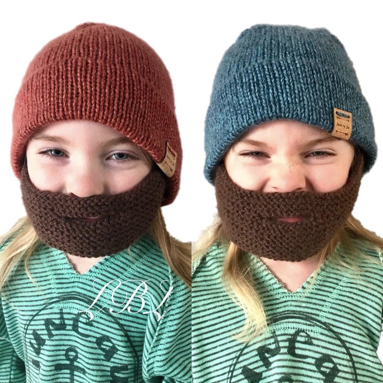 PATTERN: Strappy Beard Cap Knitting Pattern Convertible ...