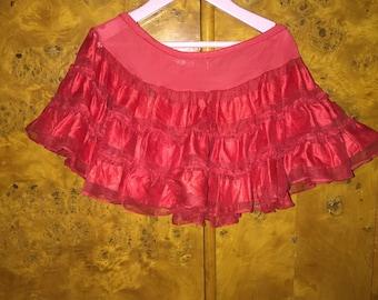 Genuine Vintage Rockabilly Baby Crinoline Lipstick Red