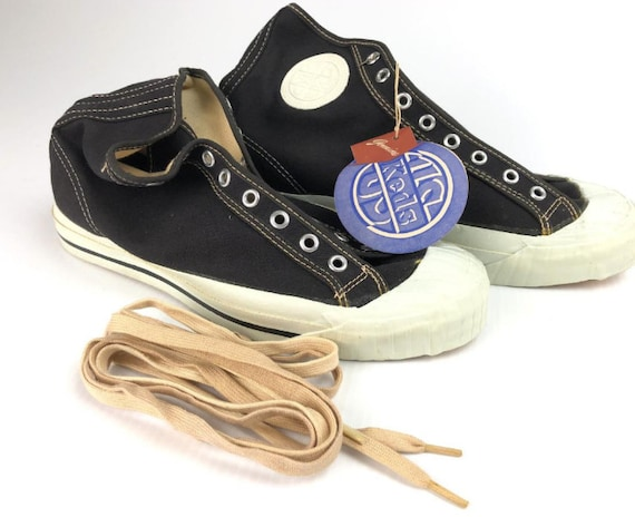 Vintage Deadstock 1950s Pro Keds high top canvas s