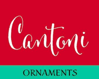 Cantoni Hand Drawn Ornaments Font