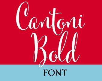 Cantoni Bold Calligraphy Font