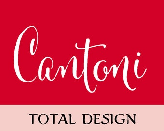 Cantoni Total Design Calligraphy Font Package
