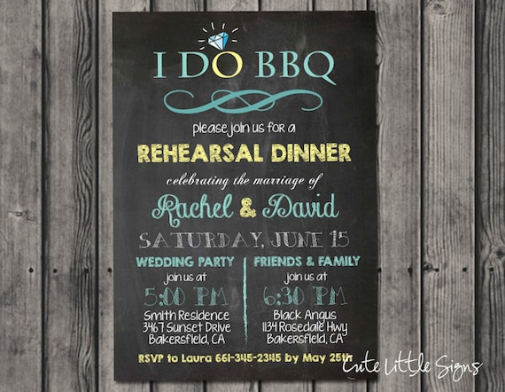 I Do Barbeque Rehearsal Dinner Invitation Digital Download