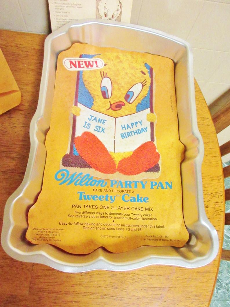 Sensational Baking Cake Pan Tweety Bird 1978 Rare With Instructions Loony Etsy Funny Birthday Cards Online Kookostrdamsfinfo