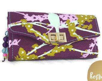 READY to SHIP Wallet - Handmade Clutch Wallet - Gorgeous Designer Fabric NCW - Joel Dewberry Necessary Clutch Wallet