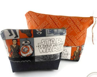 Set of Star Wars Zippered Pouches - Star Wars Zippered Pouch - Ready to Ship - May the 4th be with you