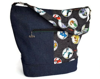 Batman Villains Bucket Bag - DC Comic Bucket Bag Purse - Comic Book Purse - Villains Bucket Bag - Custom Made