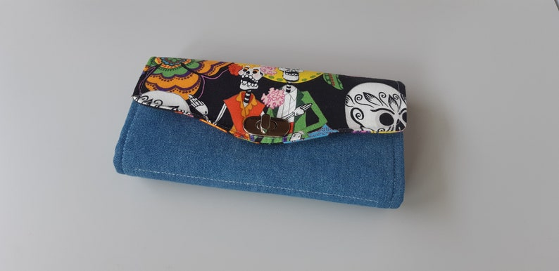 Day of the Dead Accordion Style Clutch Wallet image 0