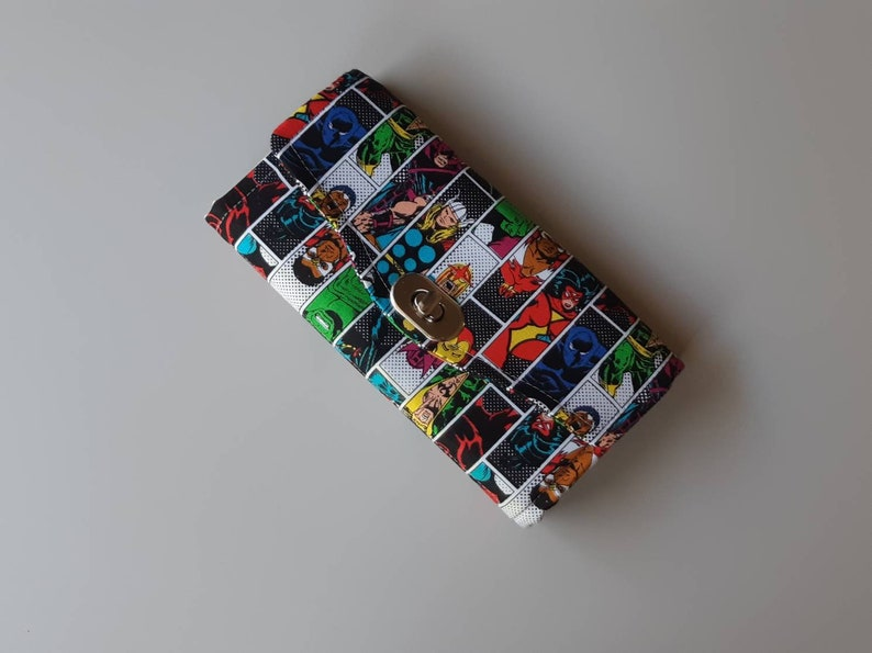 Marvel Superhero Accordion Style Clutch Wallet image 0