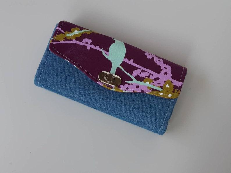 Birds Accordion Style Clutch Wallet image 0