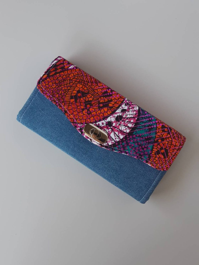 Shimmer Accordion Style Clutch Wallet image 0