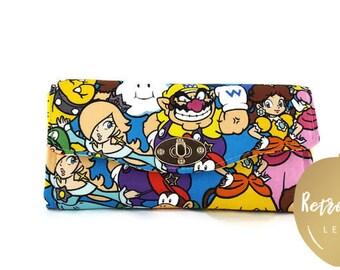 Super Mario Accordion Wallet - Yoshi Clutch Wallet - Donkey Kong Clutch - Gamer Wallet - Fabric Wallets for Women - READY to SHIP Wallet