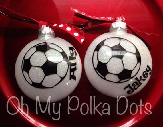image 0 - Christmas Vinyl Sports Ornament Glitter Ornament Personalize Etsy