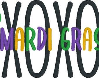 Instant Download Machine Embroidery Design Mardi Gras Crew Mardi Gras Rainbow New Orleans Nola Beads Throw me Something