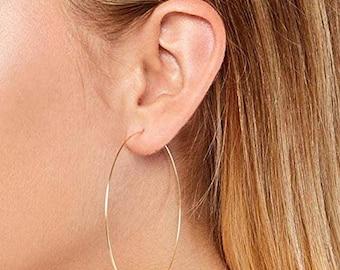 95b65b1479e34 Large hoop earrings | Etsy