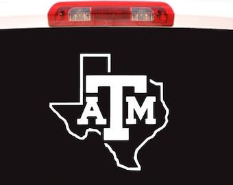 216b898cf6d Texas A M Aggies Logo Car Truck Laptop Window Decal Sticker