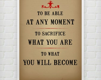 Sacrifice what you are - Eric Thomas - Motivational poster