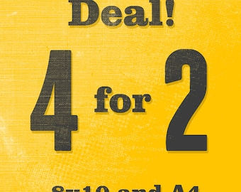 4 for 2 - 8x10 and A4 sizes - Motivational poster