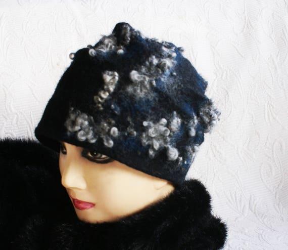 95e1d013e Handfelted OOAK Hat, Norwegian Curly Wool, Women Felt Hats, Eco Fashion  ,Handmade in Norway, Wool Curls Felted Hat , Winter hats,Felt hat
