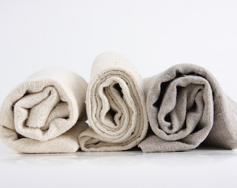 set of 3 rough BATH towel, handmade from natural ramie, linen or wild / raw silk