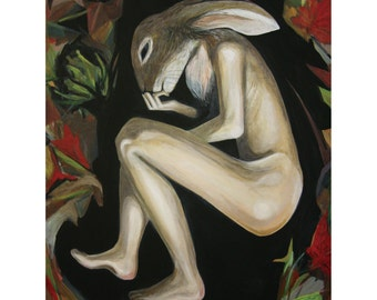 limited edition fine art print by Nicola Hebson Surrealism hare