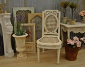 Neoclassical French Caned Chair 1 12 Scale Dollhouse Miniature Furniture