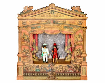 French Miniature Musical Puppet Theater Theatre #1 - Vintage
