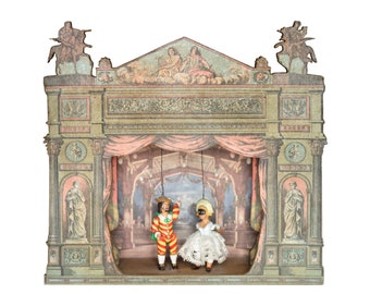 French Miniature Musical Puppet Theater Theatre #2 - Vintage