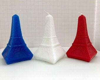 Eiffel Tower candles - handmade set of 3