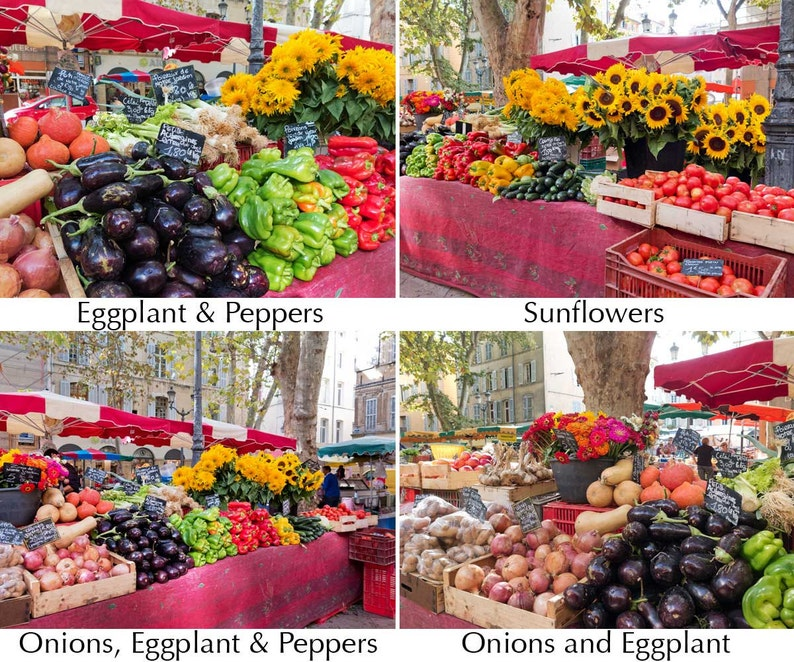 Markets of Provence 1  One 12x16 canvas photo print  choice image 0