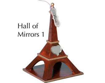 "Eiffel Tower - ""Hall of Mirrors 1"" - Faux woodgrain painting and staining with decorations"