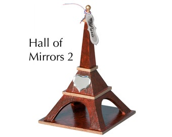 "Eiffel Tower - ""Hall of Mirrors 2"" - Faux woodgrain painting and staining with decorations"