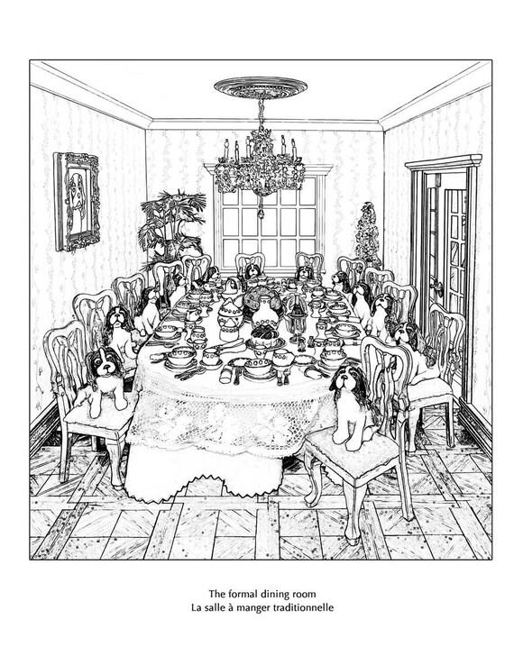 Regalo libro de colorear de francés pack Le Chateau Bidaine | Etsy