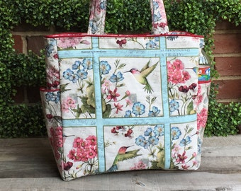 The Emily Tote: feminine tote with oodles of pockets