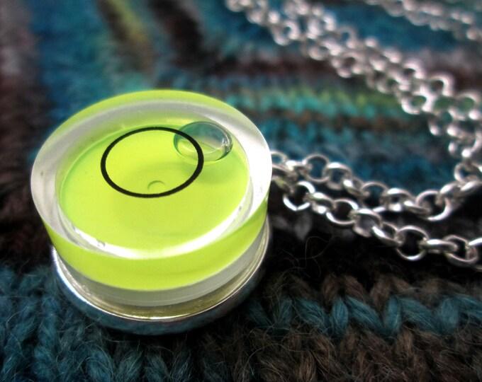 Spirit Level Necklace - Neon Yellow - Stim Toy - Small