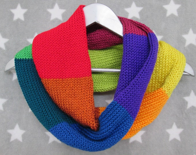 Rainbow Infinity Scarf - Neurodiversity - Pride - LGBT - Acrylic