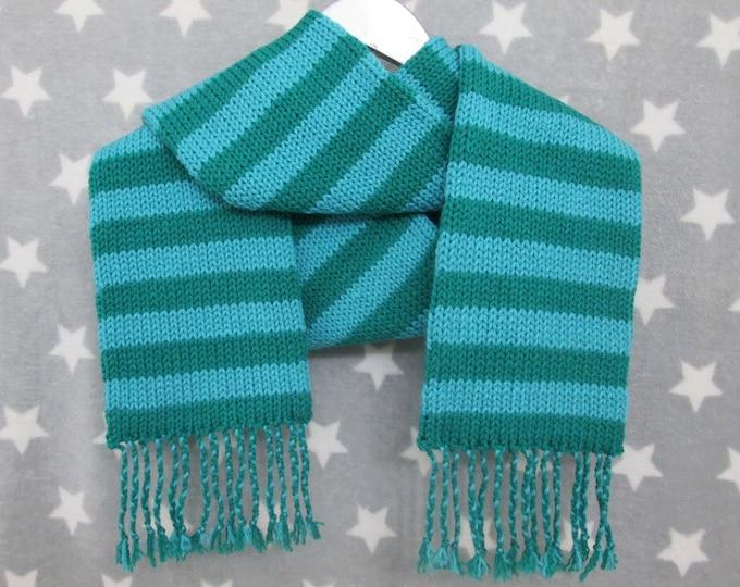 Knit Scarf - Green Stripes