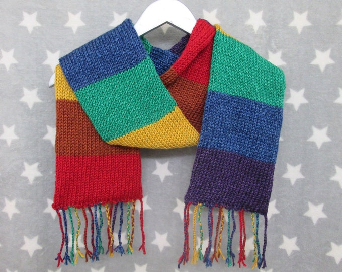 Rainbow Pride Scarf - LGBT - Heathered Rainbow - Acrylic