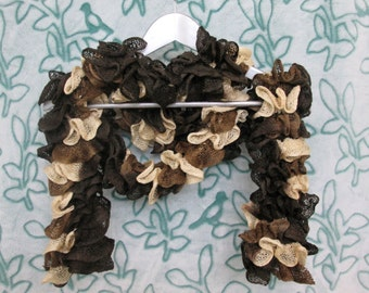 Ruffle Scarf - Coffee Shades